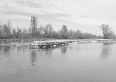 opere fluviali - realizzazione di pennelli con palizzate