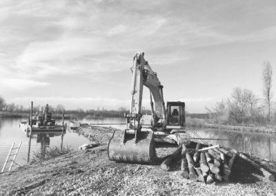 opere fluviali - realizzazione pennelli